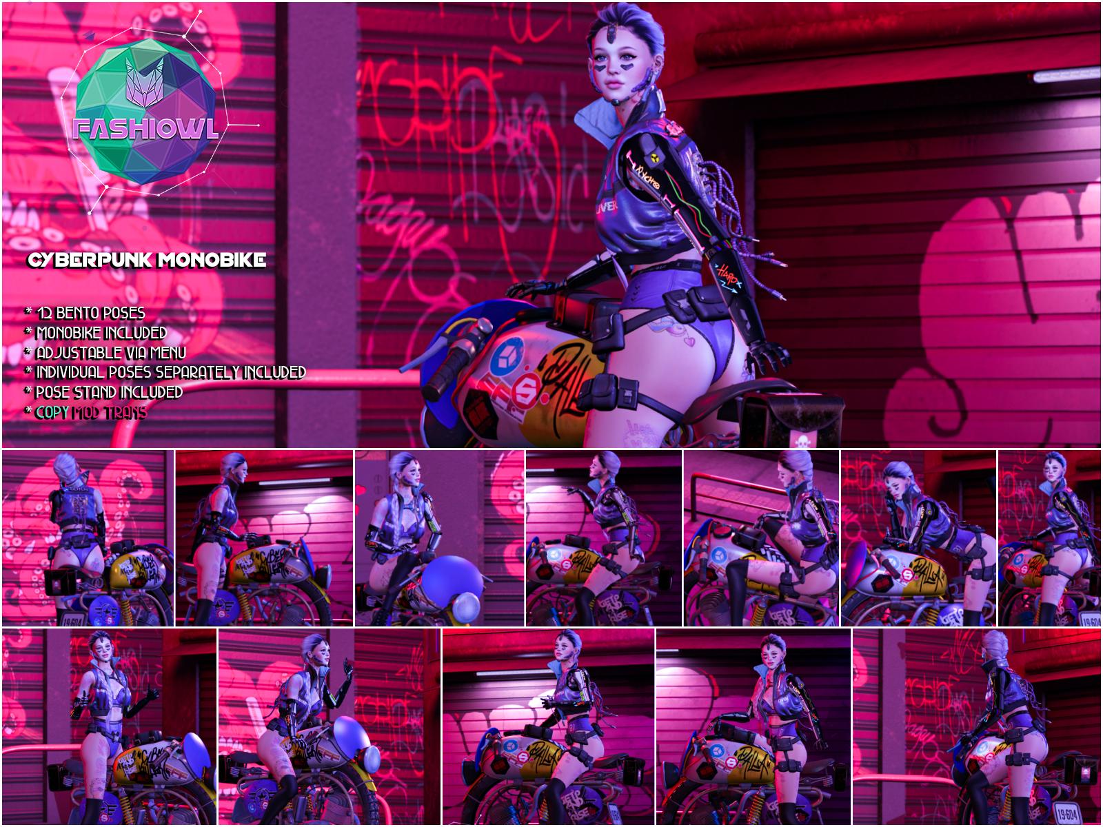 Fashiowl - Cyberpunk Monobike - Ad[3951]