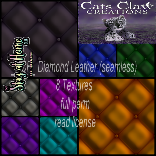 Cats Claw Creations - Diamond Leathers (seamless)
