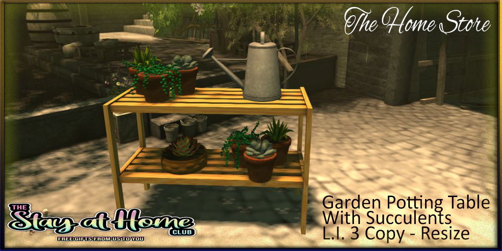 The Home Store - Garden Potting Table With Succulen