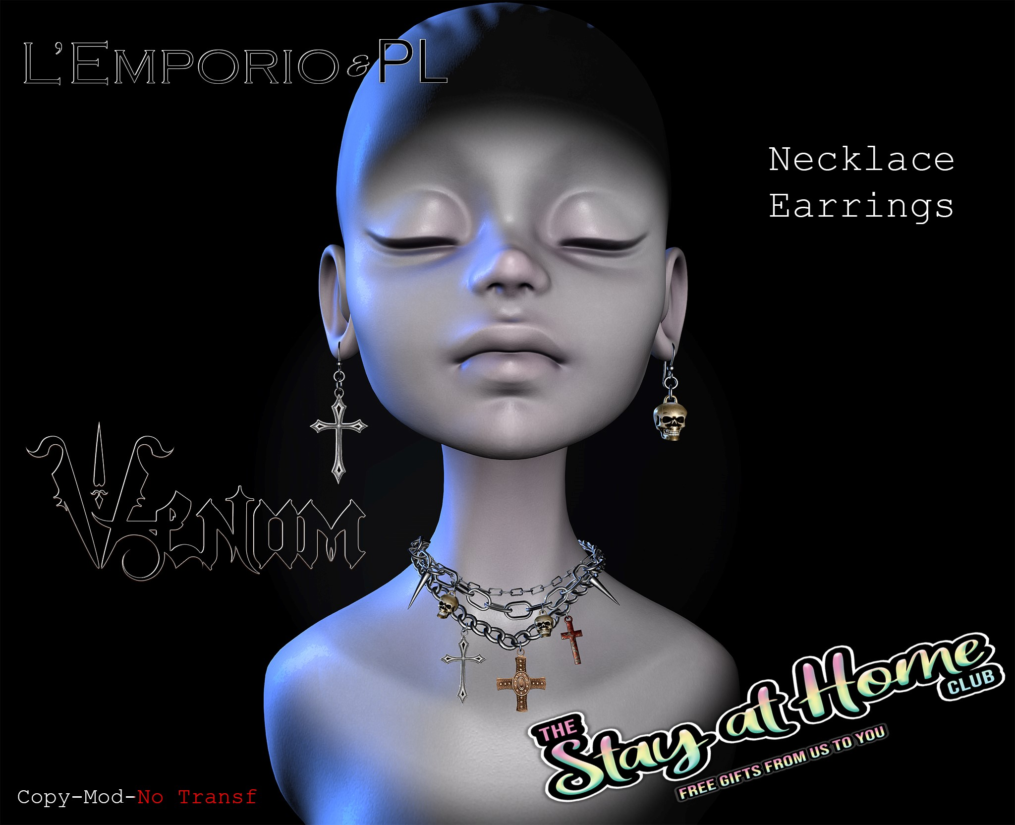 L'Emporio&PL - Venom Necklace & Earrings