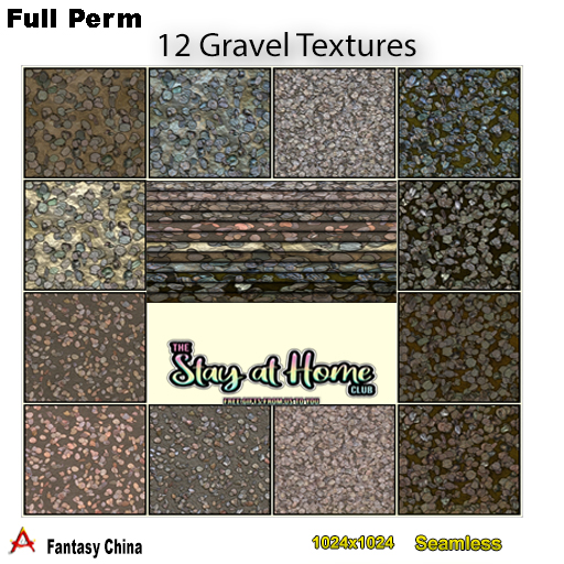 Fantasy China - 12 Full perm Gravel Textures