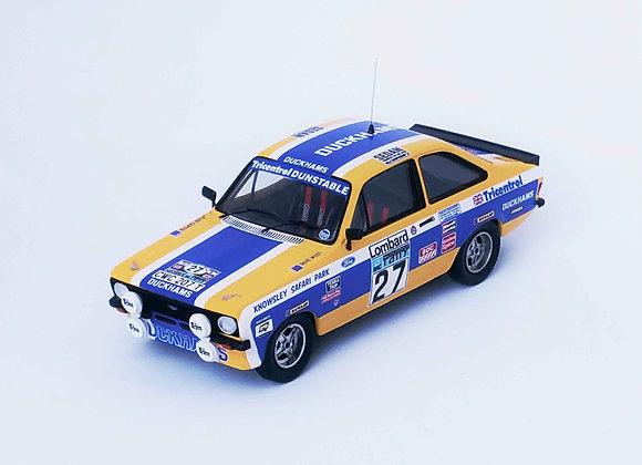 Ford Escort Mk2 Alan Carter / David West 1st Gr.1 Rac Rally 1979