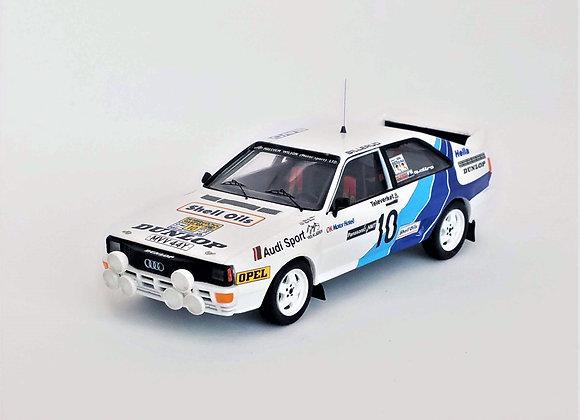 Audi Quattro  Swedish Rally 85: Malcom Wilson/Nigel Harris
