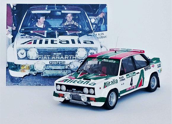"Fiat 131 Abarth ""crashed"" - 1st Rally of Portugal 1978: Markku Alen / Il"