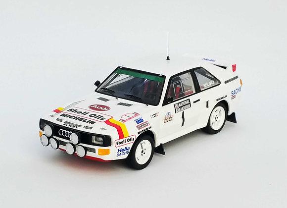 Audi Sport Quattro Hannu Mikkola / Arne Her Winner National Breakdown Rally 1986