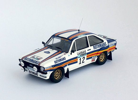 Ford Escort Mk2 - RAC Rally 1981: #12 Pentti Airikkala / Phil Short