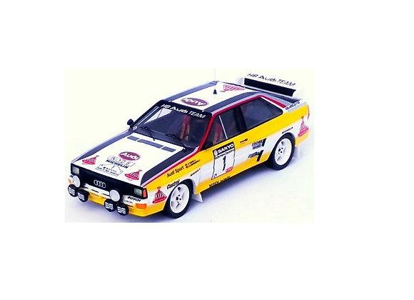 Audi quattro Walter Röhrl /Christian Geistdörfer RallyNew Zealand 1984