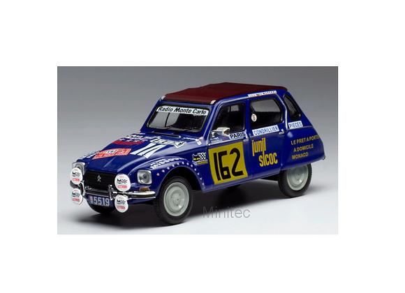 Citroen Dyane, No.162, Rally Monte Carlo , J.- J. Peyret/Cornelli, 1978