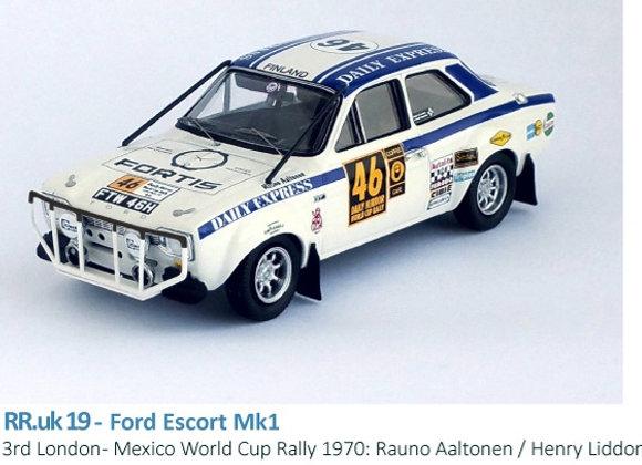 Ford Escort Mk1 - 3rd London - Mexico World Cup Rally 1970: Rauno Aaltonen