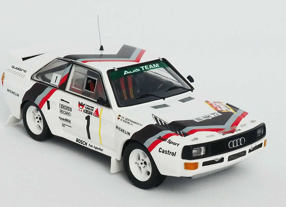 RR.de 28Audi Sport Quattro - 1st 3 Städte Rallye 1984: Walter Röhrl / Christian