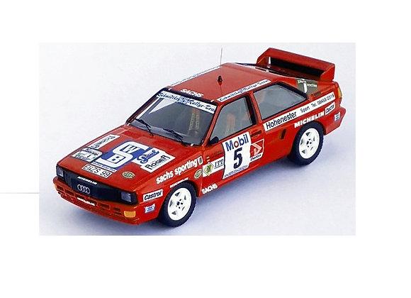 Audi quattro - 3rd 3-Städte-Rallye 1986: Oliver Schmidtke  - Siegfried