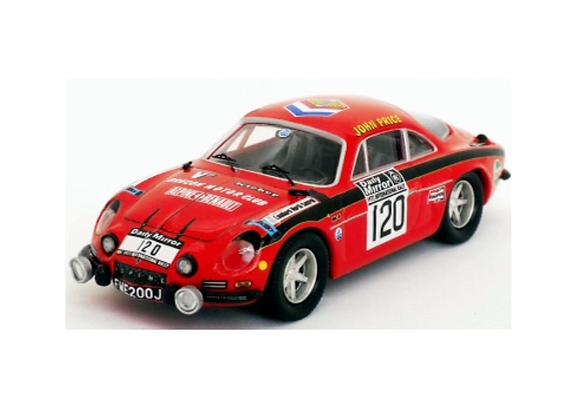 Alpine-Renault A110 -RAC Rally 72:John Price/M. Turner