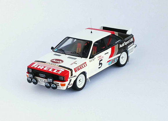 Audi quattro - 1st Welsh Rally 1982:  Björn Waldegaard / Phil Short