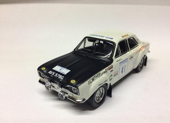 Ford Escort 1600 TC RAC Rally,1970 Culcheth/Syer