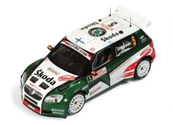 SKODA FABIA S2000 #5 J. Hanninen  2th Rally MC 2010