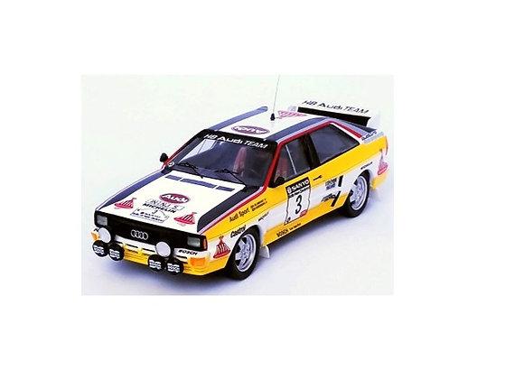 Audi quattro Stig Blomqvist / Björn Cederberg1 Winner Rally New Zealand 1984