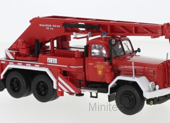 MAGIRUS URANUS KW 16 RED/WHITE FIRE BRIGADE MUNICH