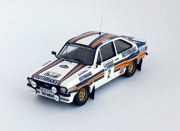 Ford Escort Mk2 - RAC Rally 1981: #2 Ari Vatanen / David Richards