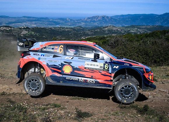 IXORAM763Hyundai i2 WRC, #6, R. Sardinien, 2020 D.Sordo/C.Del Barrio
