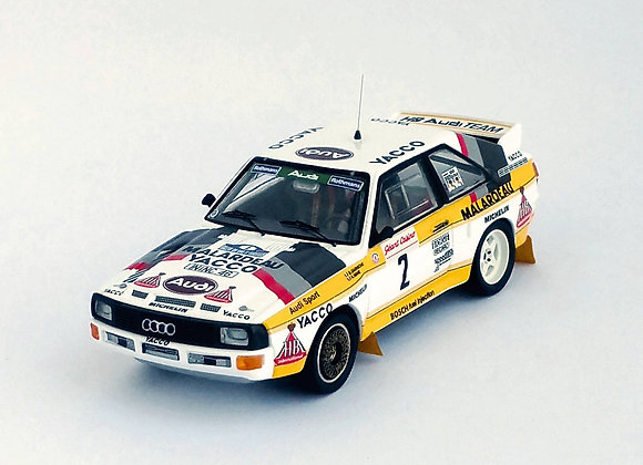 Audi Sport quattro - Rallye du Var: Bernard Darniche/Alain Mahé