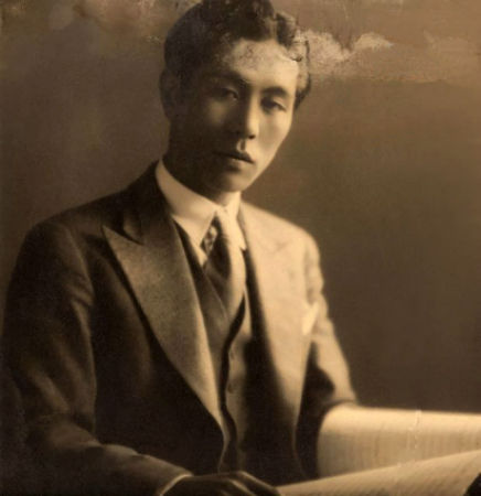 ifukube_with_score_in_1935.jpg