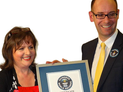 Jane Malyon winning Guinness World Recor