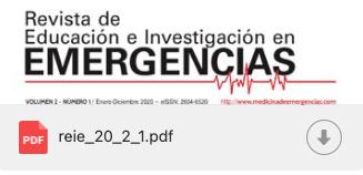 Revista de Educación e Investigación en EMERGENCIAS