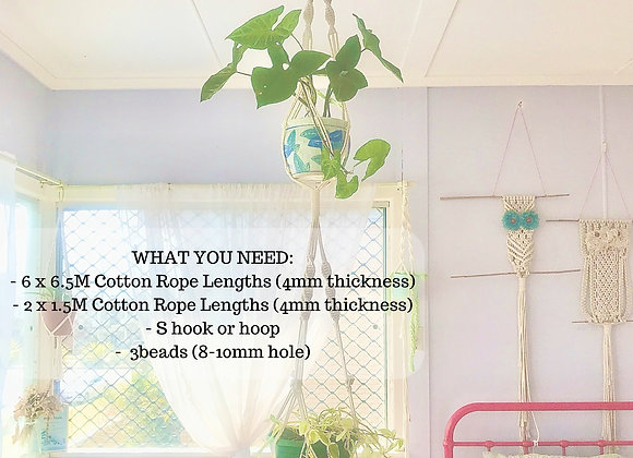 DIY MACRAME PATTERN - Double Plant Hanger