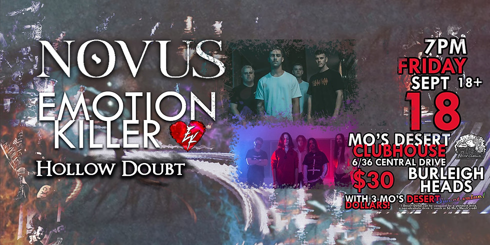 Metal at Mo's with Novus and more