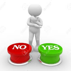 what to decide between yes or no