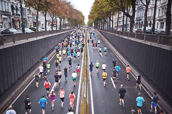 Marathon dans la ville