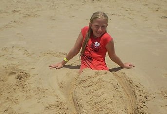 Sand is easy to clean off when your holiday accommodation near Noosa is easy to walk to.