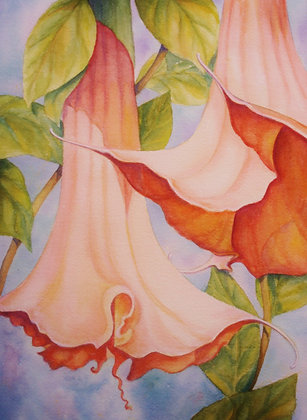 Angels Trumpets -Print