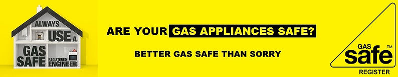 Always Use A Gas Safe Engineer Banner