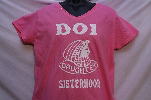 DOI PHA logo t-shirts embellished with rhinestones