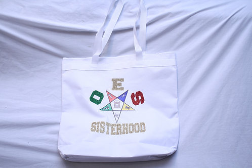 OES - Order of The Eastern Star tote bag with shoulder straps