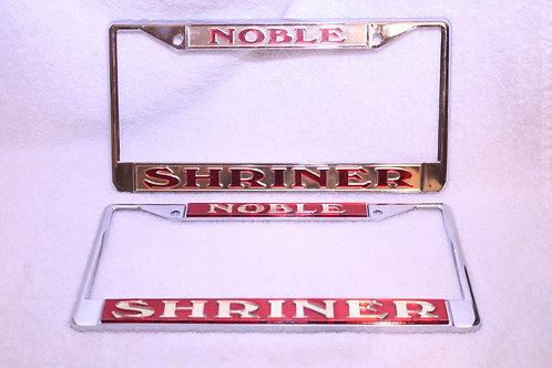 Noble/Shriner license plate frame cover