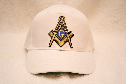 Mason adjustable ball cap with Square & Compass embroidered logo emblem