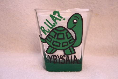 Are You A Turtle? YBYSAIA hand painted glassware