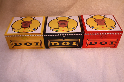 DOI PHO rhinestone embellished trinket box