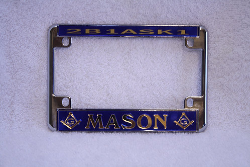 Mason motor cycle license plate frame 2B1ASK1