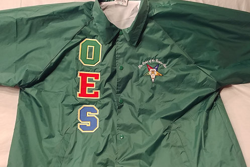 OES Order of The Eastern Star embroidered nylon custom line jacket