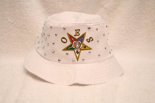 OES - Order of the Eastern Star rhinestone bucket floppy hat with logo emblem