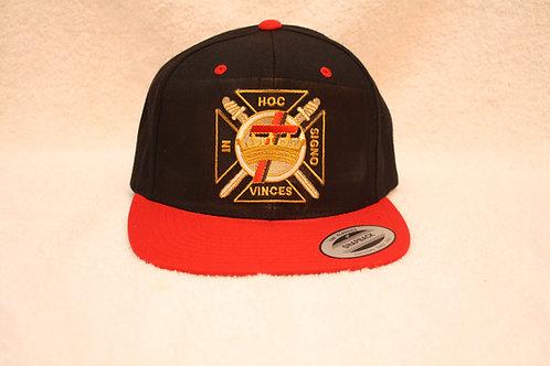 Knight Templar Mason ball cap with embroidered logo emblem