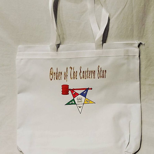 OES Past Worthy Matron tote bag has Star with gavel logo image