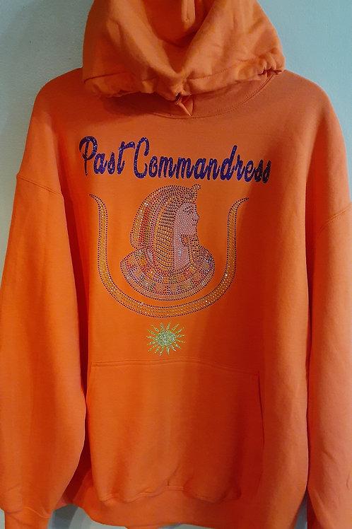 Past Commandress Daughter DOI PHA rhinestone logo with sundial hoodie sweatshirt