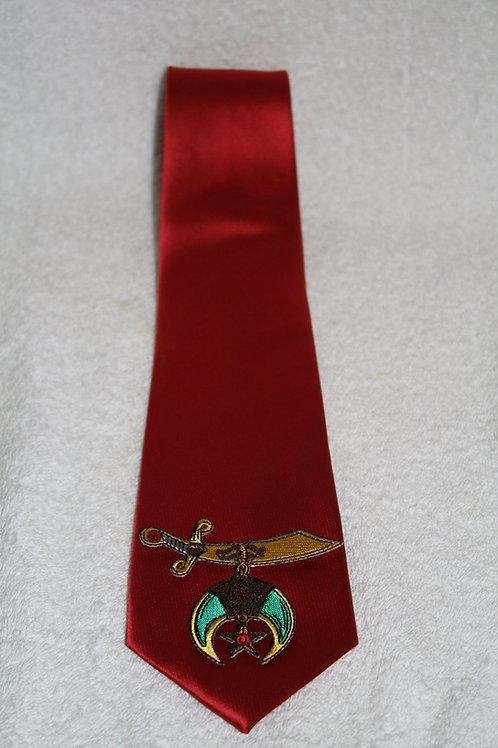 Shriner/Noble scimitar logo necktie