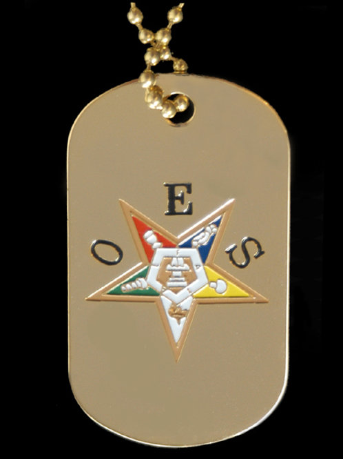 OES - Order of the Eastern Star pendant dog tag