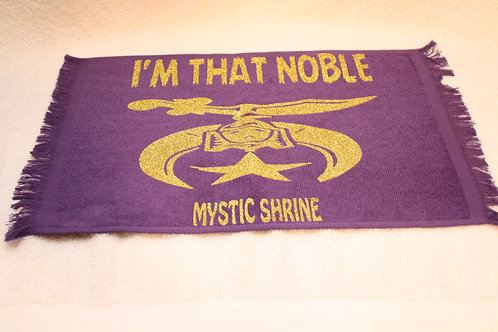 I'm That Noble Mystic Shrine fan towel with scimitar logo image