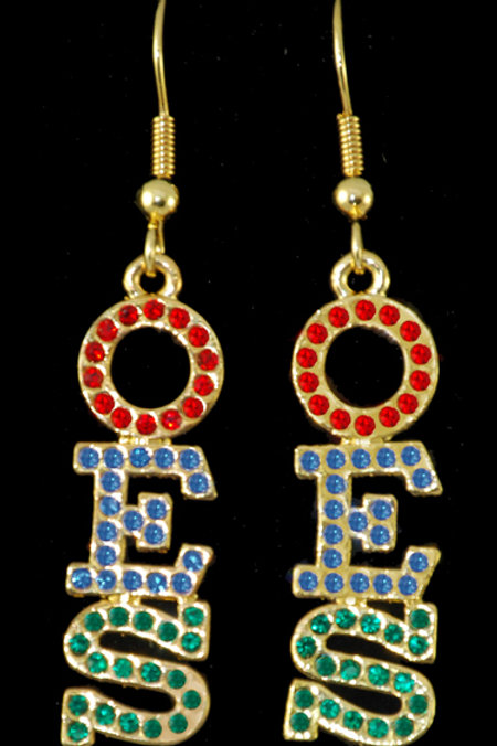 OES - Order of the Eastern Star gold earrings